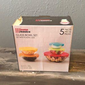 Home Basics glass bowl set